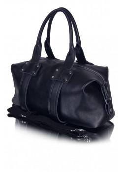 Мужская кожаная сумка - Black