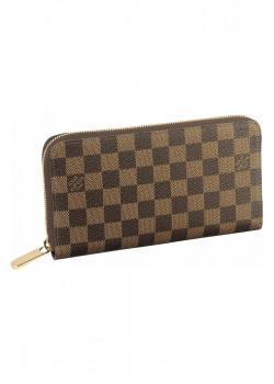 Кожаный кошелёк Brown 12x22 см