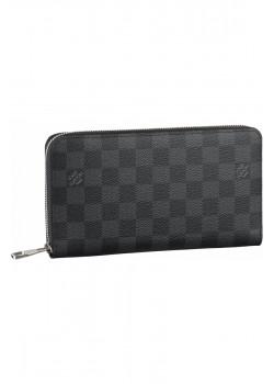 Кожаный кошелёк - Black / Grey