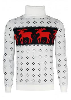 Тёплый брендовый свитер - White