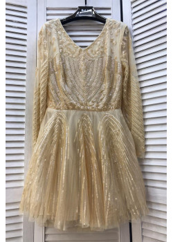 Женское классическое платье - Beige