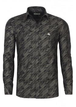 Брендовая мужская рубашка - Grey