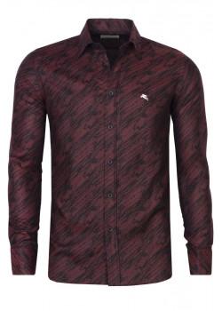 Брендовая мужская рубашка - Burgundy