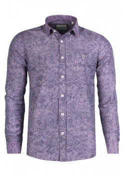 Брендовая мужская рубашка - Purple