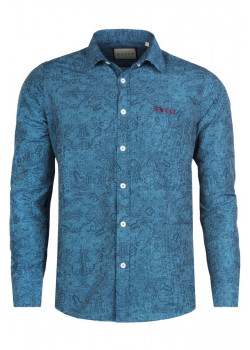 Брендовая мужская рубашка - Green