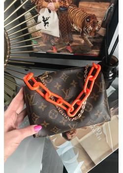 Брендовая кожаная сумка 25x20 см