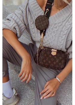 Брендовая кожаная сумка - Brown