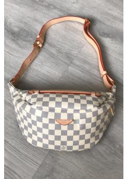 Женская кожаная сумка на пояс 28x14 см