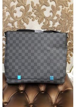 Брендовая кожаная сумка 32x26 см - Grey