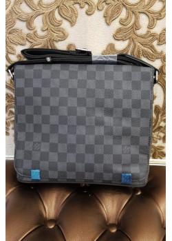 Брендовая кожаная сумка 25x22 см - Grey