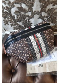Кожаная сумка на пояс 30x20 см - Brown