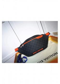 Кожаная сумка на пояс 37x30x6 см - Grey