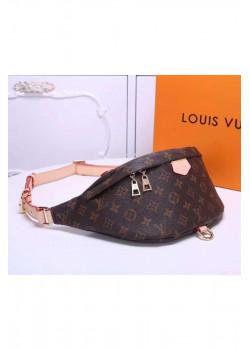 Кожаная сумка на пояс 37x14x13 см - Brown