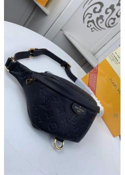 Кожаная сумка на пояс 23x16x11 см - Black
