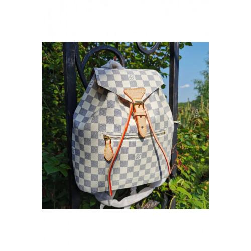 Кожаный брендовый рюкзак 30x25 см - White