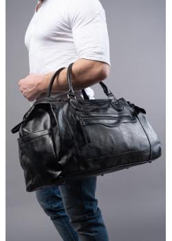 Брендовая дорожная сумка чёрного цвета