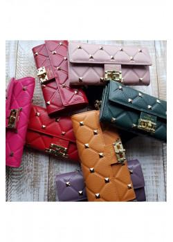 Кожаный кошелек 19x10 см (6 расцветок)