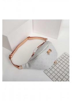 Кожаная сумка на пояс 30x18 см - White