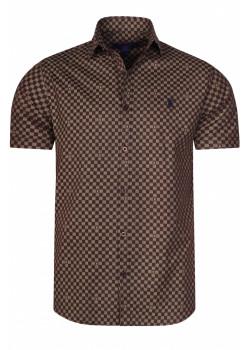Брендовая мужская рубашка - Brown