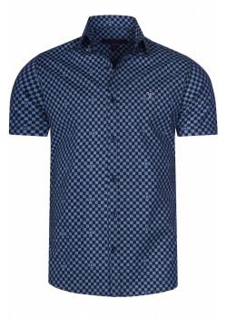 Брендовая мужская рубашка - Blue