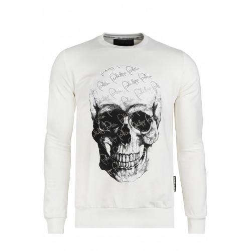 "Cвитшот со стразами ""Skull"" - White"