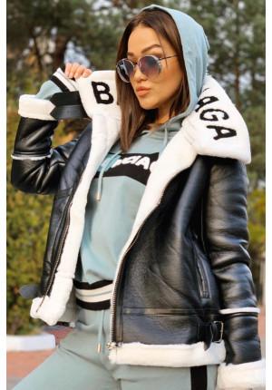 Женская куртка-пилот - Black