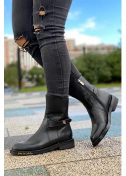 Кожаные сапоги - Black