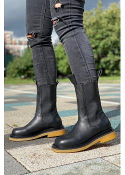 Кожаные сапоги - Black / Gum