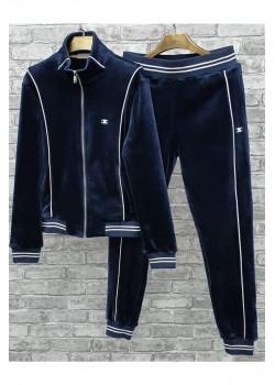 Утеплённый бархатный костюм - Navy