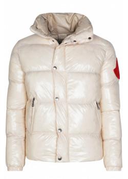 Куртка с глянцевым эффектом - Beige