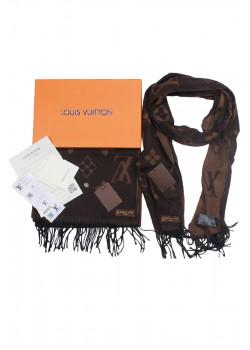 Брендовый шарф с логотипом - Brown