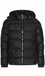 Брендовая мужская куртка с капюшоном - Black