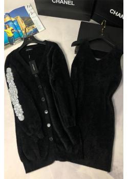 Женская утеплённая кофта и платье