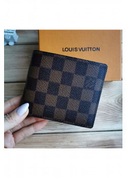 Кожаный брендовый кошелёк - Brown