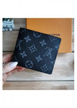 Кожаный брендовый кошелёк - Grey
