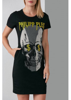 """Платье со стразами """"Skull"""" - Black"""
