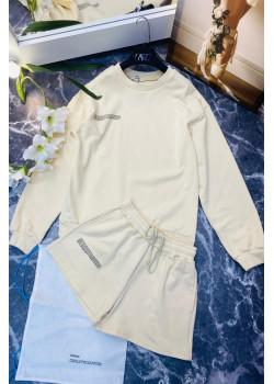 Женские шорты и кофта - White