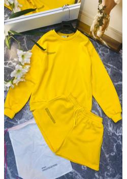 Женские шорты и кофта - Yellow