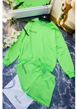 Женские шорты и кофта - Light Green