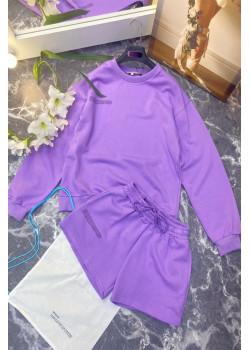 Женские шорты и кофта - Purple