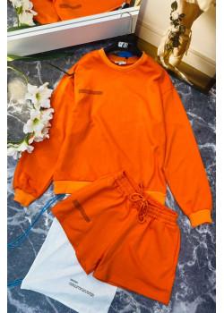 Женские шорты и кофта - Orange