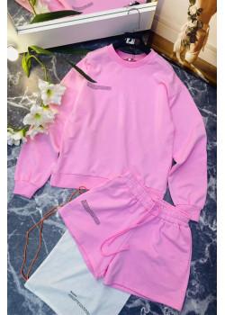 Женские шорты и кофта - Pink