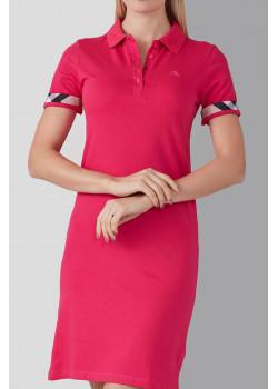 Розовое классическое платье