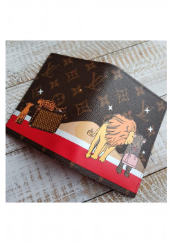 Кожаная обложка для паспорта Lion