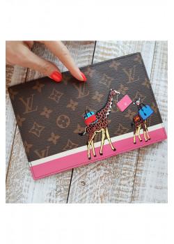Кожаная обложка для паспорта Giraffe