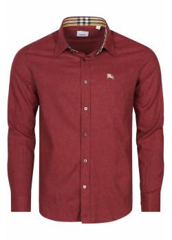 Классическая мужская рубашка - Burgundy