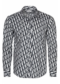 Классическая мужская рубашка - White / Black