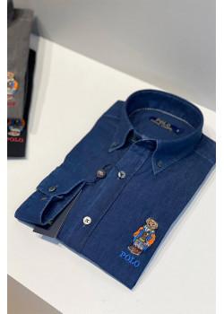 """Мужская рубашка """"Bear"""" - Navy"""