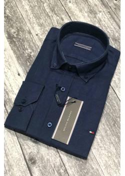 Классическая тёмно-синяя рубашка