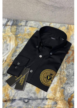 Чёрная классическая рубашка